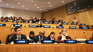 السيدة بسيمة الحقاوي تشارك اليوم الإثنين بالأمم المتحدة في الموائد الوزارية في إطار الدورة الـ61 للجنة وضع المرأة
