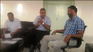 الدكتور محمد الخاليد المدير العام لمصحة القلعة في لقاء تواصلي مع الإعلاميين بالمدينة