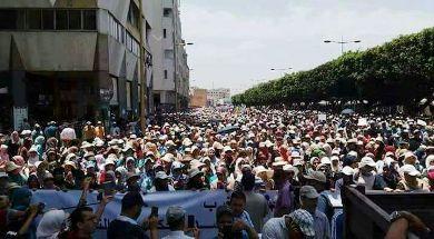 تضامنا مع حراك الريف، آلاف المغاربة في احتجاج نادر بالرباط