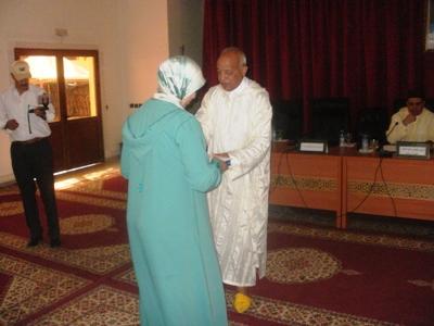 الكاتب العام لعمالة إقليم الرحامنة يترأس حفل توديع حجاج الإقليم الذين سيتوجهون إلى الديار المقدسة.