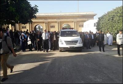 تشييع جثمان المناضل سعيد بونعيلات بمقبرة الشهداء بالدار البيضاء