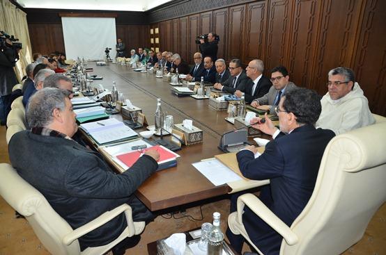 أشغال اجتماع مجلس الحكومة ليوم 12 يناير 2018