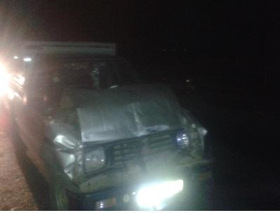 حادثة سير تسفر عن أضرار مادية  بسيدي بنور