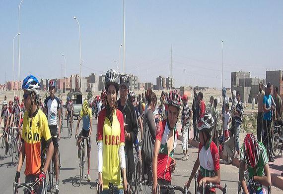 أول عنصر نسوي من مدينة ابن جرير يشارك في سباقات الدراجات الوطنية