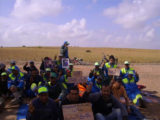 اعتصام العمال المتطوعين ببلدية ابن جرير
