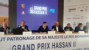 ندوة صحفية بمقر النادي الملكي للتنس بمدينة مراكش بمناسبة الدورة 35 لجائزة الحسن الثاني للتنس.
