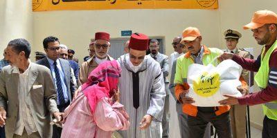 انطلاقة عملية توزيع الإعانات الغذائية على المعوزين بمناسبة رمضان بإقليم الرحامنة