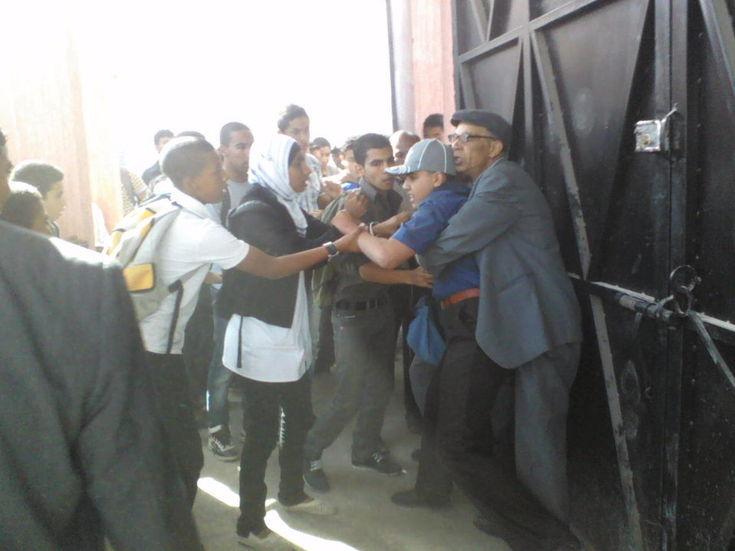 في يوم الغضب التلاميذي بمدينة سطات اعتداء على تلميذ بالضرب والشتم