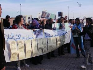 وقفة احتجاجية للجمعية المغربية لحقوق الإنسان بمراكش (ألبوم صور)