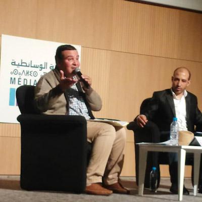 """الدكتور عبد الرحيم العطري في موضوع """" التحولات القيمية للمجتمع المغربي"""" بالخزانة الوسائطية خريبكة"""