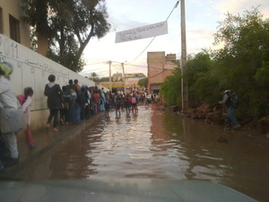 بركة مائية تتسبب في انقطاع التلاميذ عن المدرسة