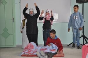 مركز إدماج أطفال  ثلاثي الصبغي 21 بمدينة ابن جرير  في صبيحة متميزة بمناسبة  عيد عاشوراء