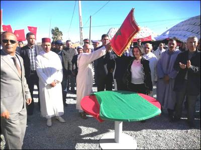 عامل اقليم شيشاوة يتراس مراسيم تحية العالم  ويعطي انطلاق مشروع تهيئة  طريق