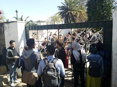 """جامعة محمد الخامس تمنع ندوة صحافية لـ """"أوطم"""" بالرباط."""