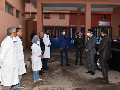عامل اقليم الرحامنة يقوم بزيارة للمستشفى  الإقليمي بابن جرير.