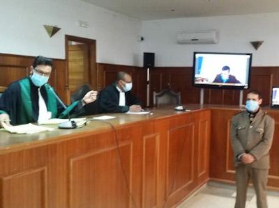 انطلاق اول جلسة محاكمة عن بعد بالمحكمة الابتدائية بابن جرير