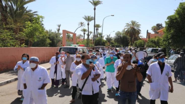 احتجاج أطر الصحة بمراكش على تحويل جناح للعمليات الجراحية إلى غرف لإنعاش مرضى كوفيد 19