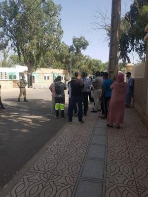 هكذا الاستعداد للدخول المدرسي بابن جرير...العشرات من آباء وأولياء تلامذة مؤسسة سبيل الرشاد الخصوصية في وقفة احتجاجية أمام مقر عمالة الإقليم