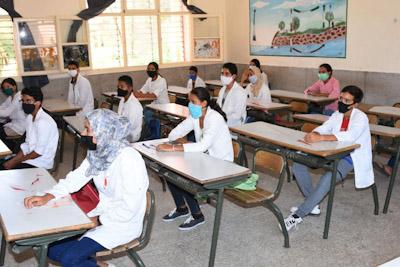 عامل إقليم الرحامنة يقوم بزيارة لثانوية المسيرة الاعدادية بابن جرير بمناسبة الدخول المدرسي