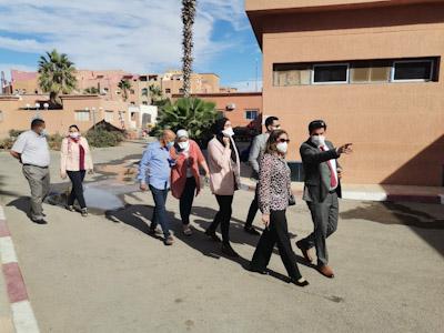 المديرة الجهوية للصحة بجهة مراكش اسفي....استحسنت مشروع تهيئة المستشفى الاقليمي بالرحامنة