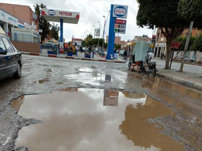 التساقطات المطرية تعري هشاشة البنية التحتية بابن جرير