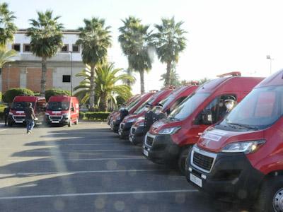 مجلس جهة مراكش آسفي....توزيع 20 سيارة إسعاف خاصة بمرضى كوفيد لفائدة القيادة الجهوية للوقاية المدنية