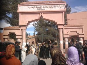 اساتذة سد الخصاص بورزازات يتفاعلون مع اضراب 28 فبراير 2013 