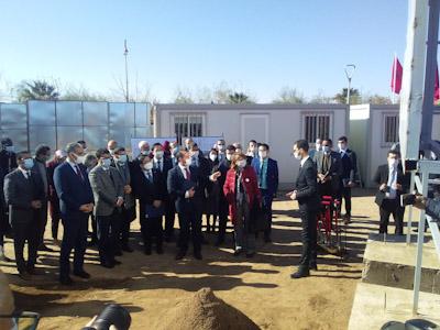 عزيز رباح وزير الطاقة والمعادن والبيئة يترأس مراسيم إطلاق أشغال بناء مركز أبحاث في ميدان الشبكات الذكية بابن جرير.
