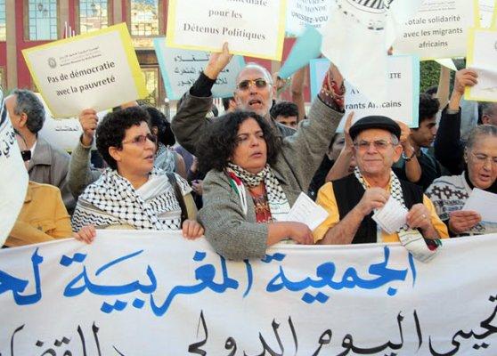 الجمعية المغربية لحقوق الإنسان تسجل تزايد الاحتجاجات في المغرب وتستنكر استمرار الاعتقالات بسبب الرأي