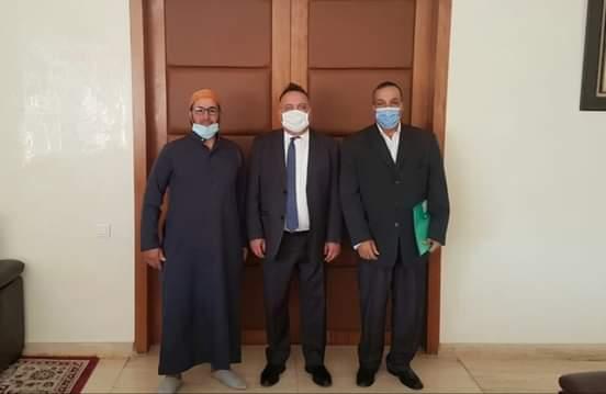 عامل إقليم الصويرة يستقبل بمكتبه  رئيس نادي الاتحاد الصويري لكرة القدم