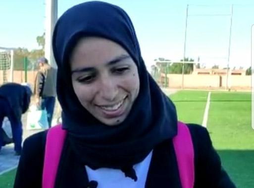 فاطمة الزهراء باجلة نجمة كرة القدم النسوية بالرحامنة
