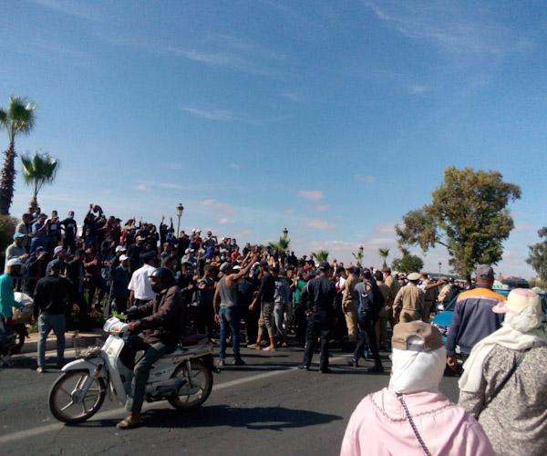 احتجاجات الشباب عن التشغيل بابن جرير في تصاعد