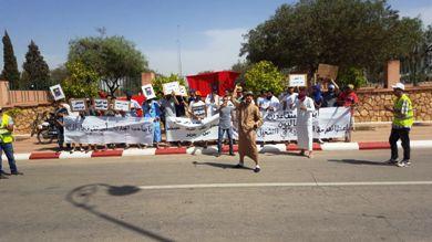 موجة احتجاجات لأبناء عمال ومتقاعدي الفوسفاط بابن جرير.