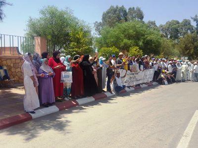 احتجاجات أبناء متقاعدي المجمع الشريف للفوسفاط في تصاعد.
