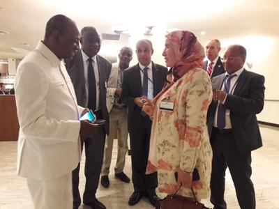 الوفي بالاتحاد الافريقي بنيويورك  تستعرض جهود المغرب في مجال التغير المناخي بحضور قادة إفريقيا