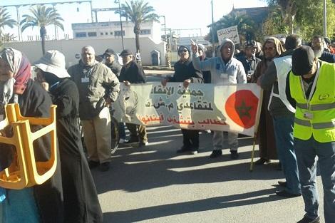 أرامل ومتقاعدو مجمع الفوسفاط يواصلون الاحتجاجات