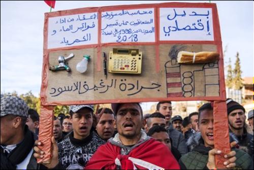 إضراب عام يشل الحركة  بجرادة  ونشطاء يرفضون الجلوس مع العثماني بعد ساعات من وصوله رفقة وفد وزاري
