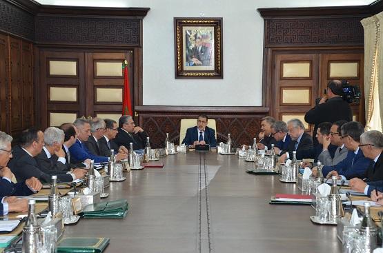 تقرير عن أشغال  الاجتماع الأسبوعي  لمجلس الحكومة  ليوم الجمعة  25 ماي 2018