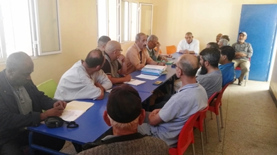 رئيس الجامعة الملكية المغربية للدراجات يقوم بزيارة لمقر نادي شباب الرحامنة للدراجات