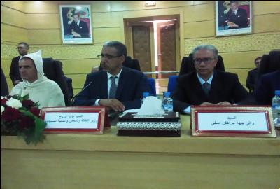 تنصيب هشام السماحي العامل الجديد لاقليم قلعة السراغنة و عبد العزيز الرباح يؤكد على التحديات التي دعى لها جلالة الملك في خطاب العرش الاخير