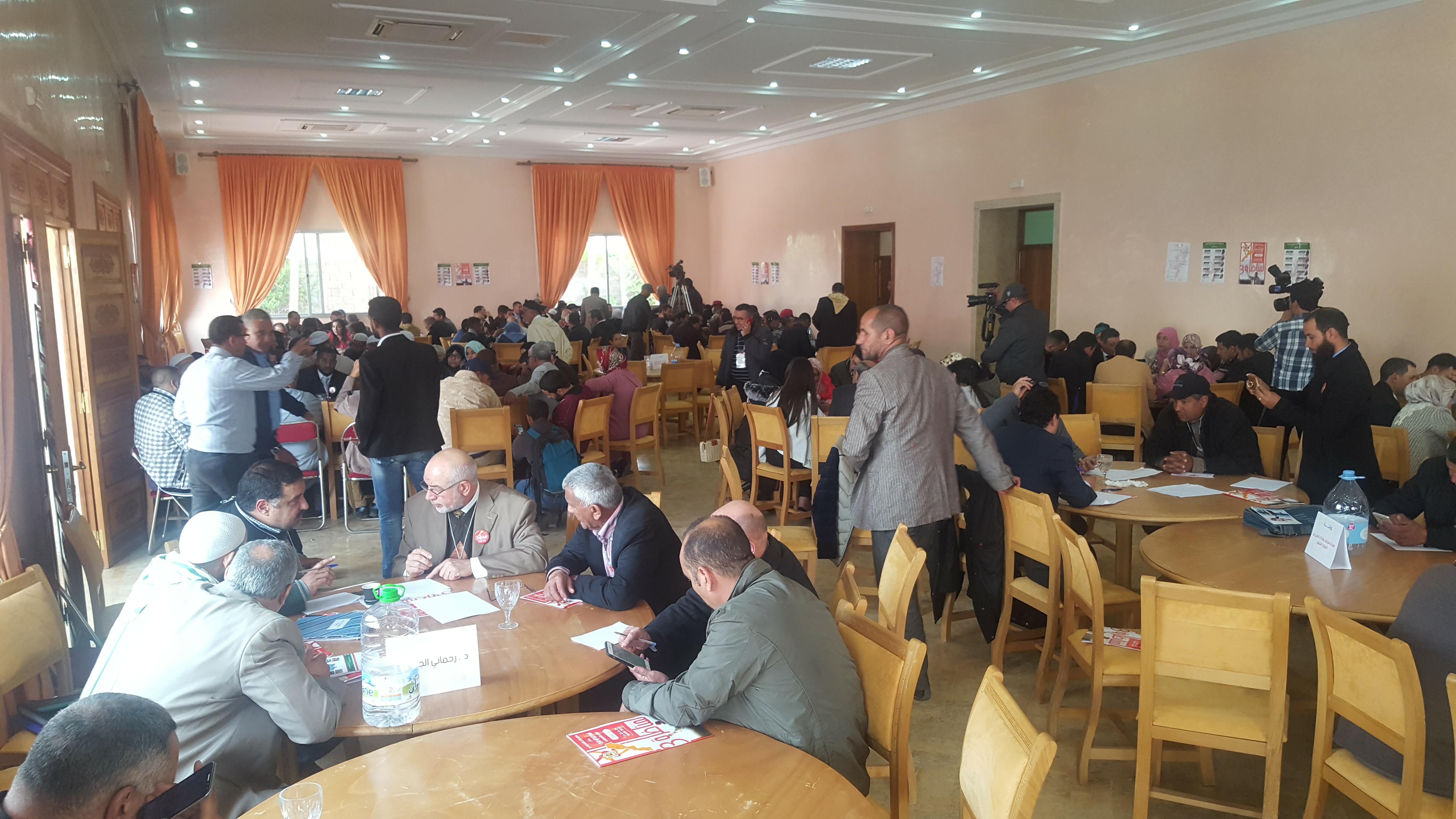 جمعية الصحافة والإعلام الإلكتروني بإقليم الرحامنة تشارك في المناظرة الوطنية للمشروع التنموي الجديد بمراكش.