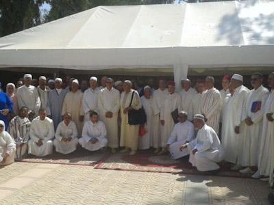 حفل استقبال على شرف حجاج اقليم الرحامنة الذين سيتوجهون الى الديار المقدسة