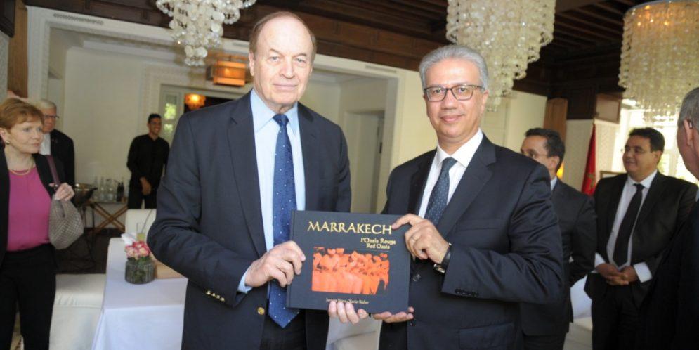 قسي لحلو والي مراكش يستقبل رئيس لجنة الشؤون المصرفية بمجلس الشيوخ الامريكي السيناتور رتشارد شيلبي