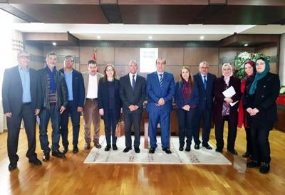 الوزير الحسن عبيابة يستقبل اللجنة المؤقتة المكلفة بإدارة الجامعة الملكية المغربية لكرة السلة