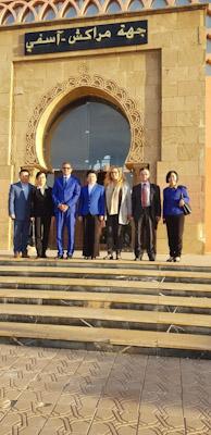 التهامي محيب نائب رئيس جهة مراكش اسفي  يستقبل وفدا عن مقاطعة جيانغسو الصينية