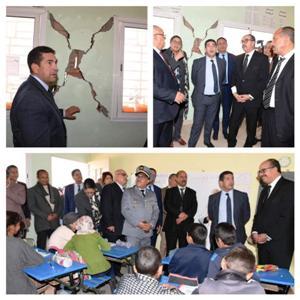 أمزازي يقف على 18 محطة بأقاليم جهة درعة تافيلالت والساكنة تستحسن زباراته الميدانية