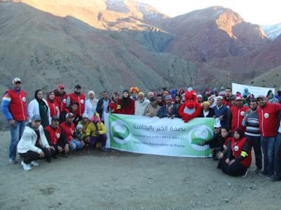 جمعية بصمة الخير بالرحامنة تنظم قافلة تضامنية-إنسانية مع ساكنة جماعة أيت امديس إقليم أزيلال.