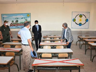 عامل إقليم الرحامنة في زيارة تفقدية للمراكز التي ستحتضن امتحانات الباكالوريا بالإقليم