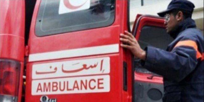 رئيسة جمعية أم المؤمنين عائشة تتعرض لحادثة سير خطيرة بمدخل الطريق السيار ابن جرير