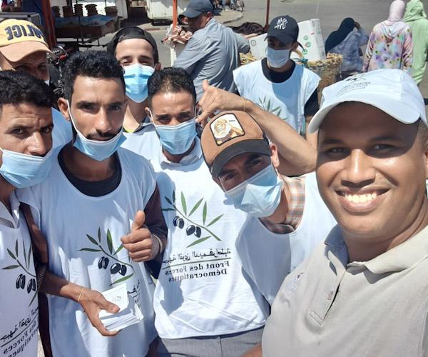 شباب جبهة القوى الديمقراطية بابن جرير يشخصون الوضع العام بالمدينة